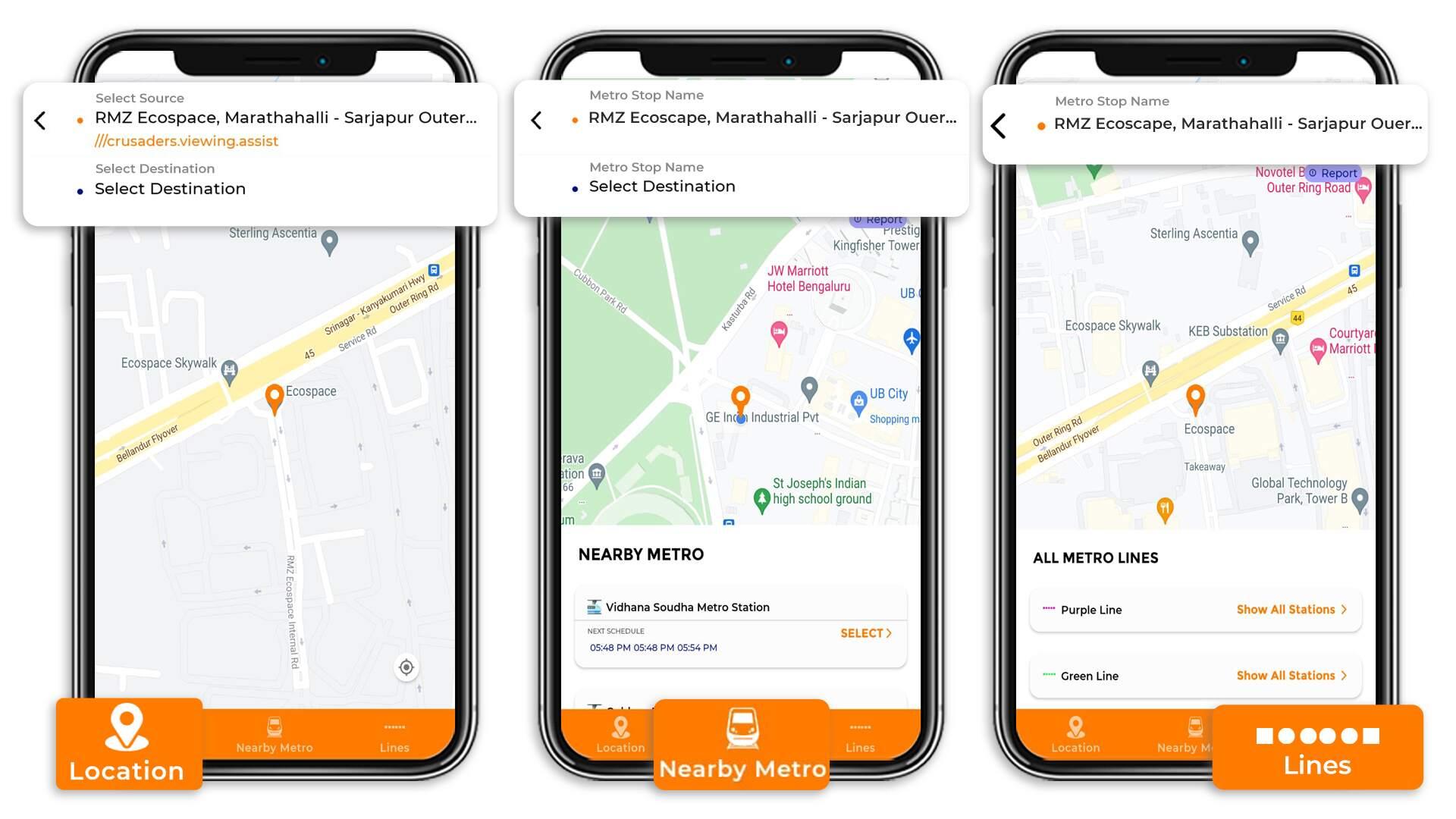 Tummoc, Tummoc app, Purple line, Namma metro