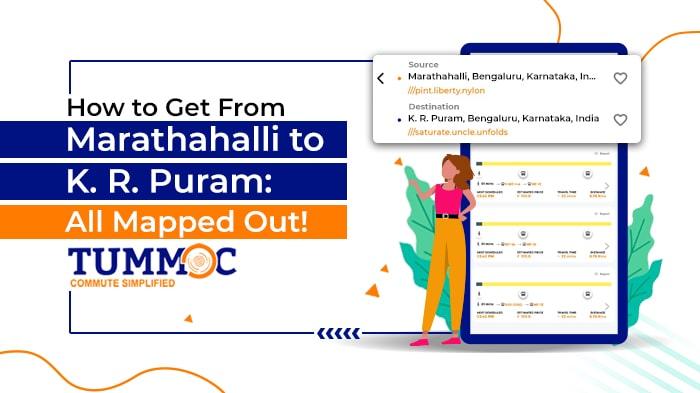 Tummoc, Tummoc app, Marathahalli, KR Puram, Public Transport information