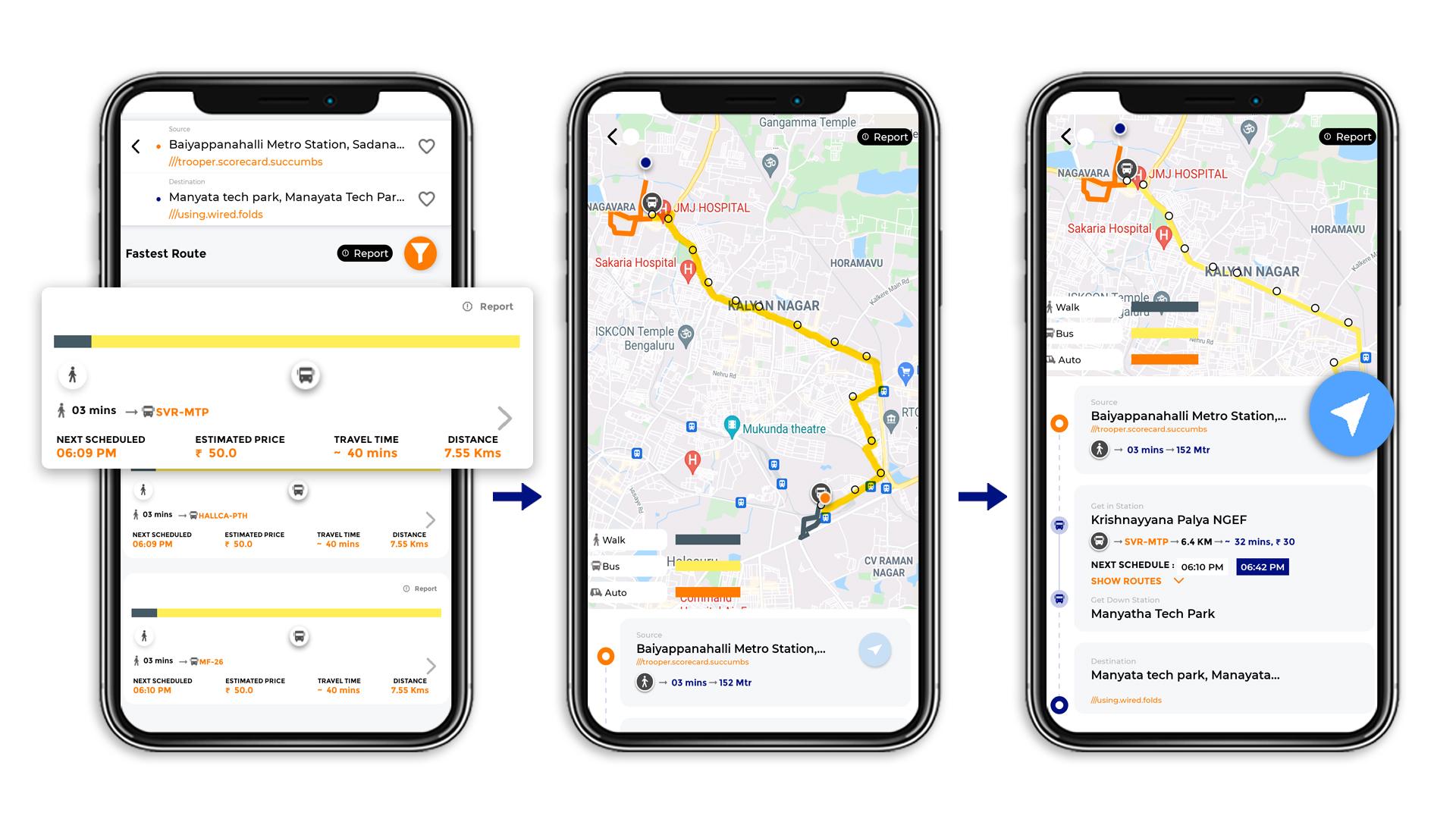 Tummoc, Tummoc app, Baiyannahalli metro station, Manyata Tech park, Public transport