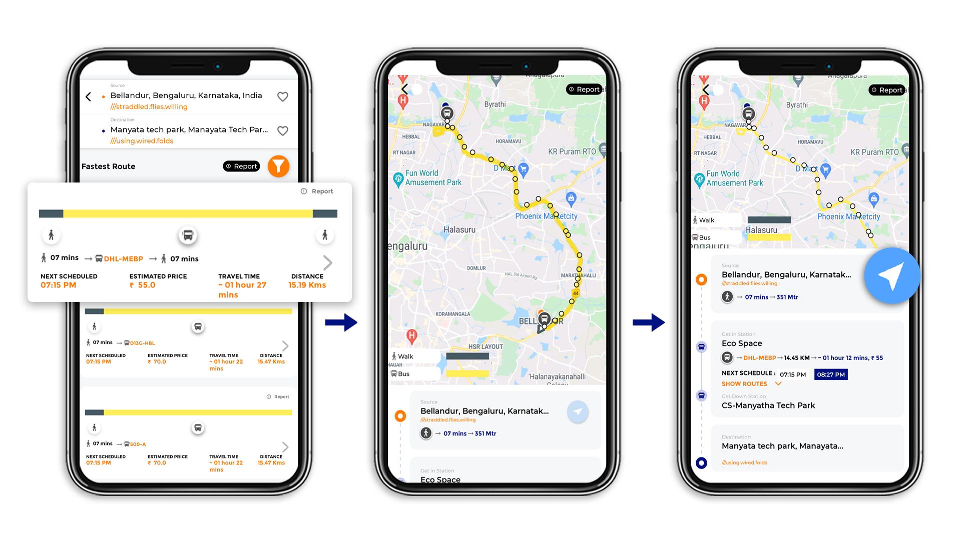 Tummoc, Tummoc app, Bellandur, Manyata Tech park, Public transport