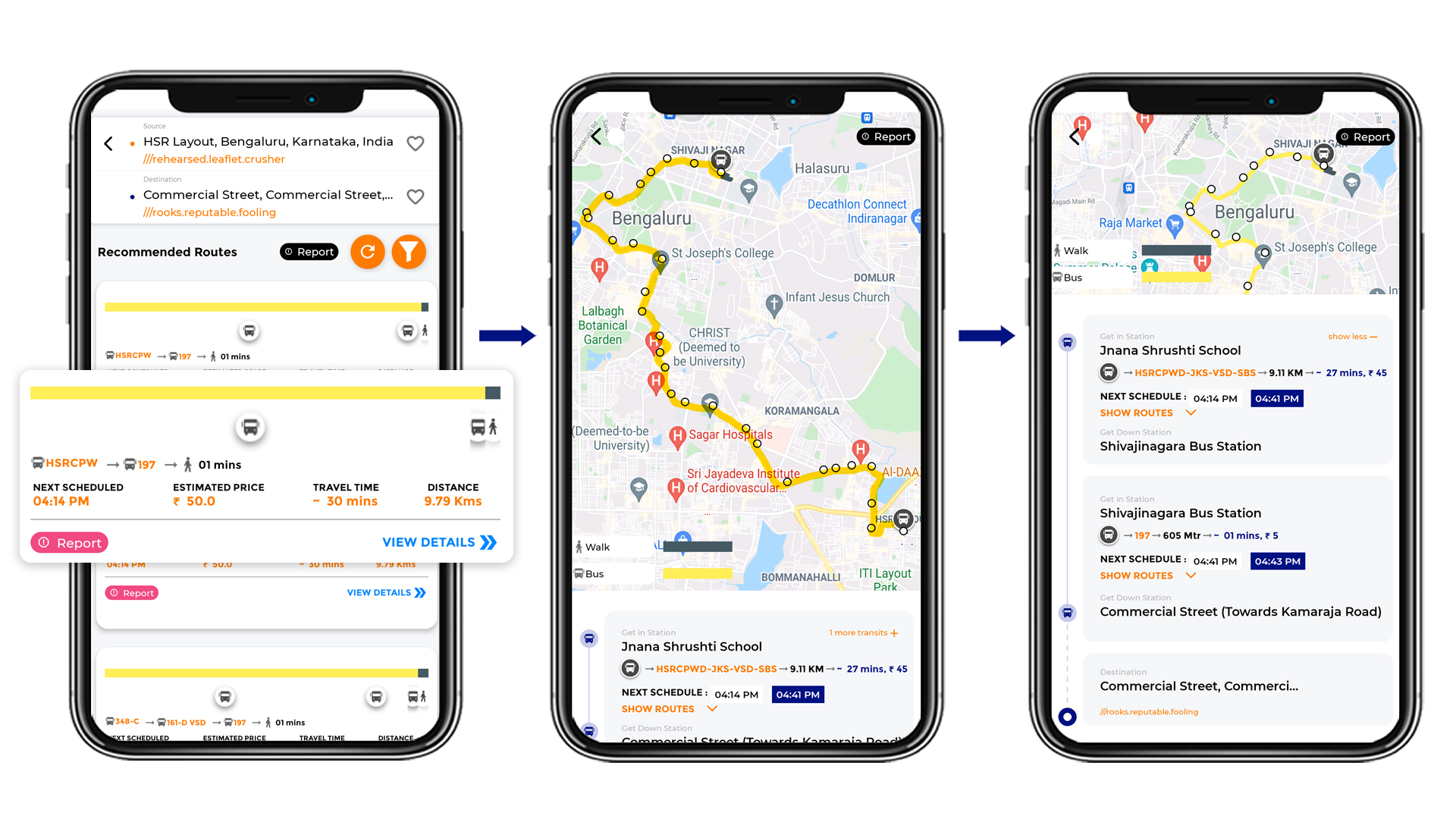 Tummoc, Tummoc app, Public Transport Information, Commercial street, HSR Layout