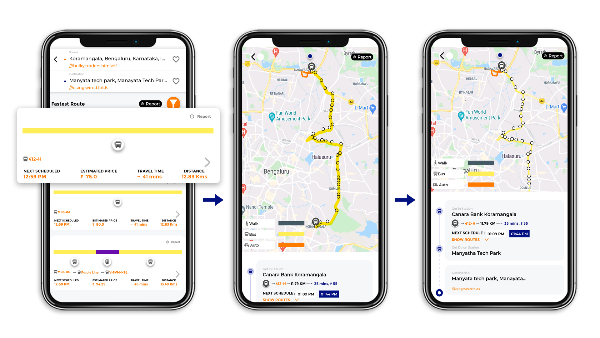 Tummoc, Tummoc app, Kormangala, Manyata Tech park, Public transport