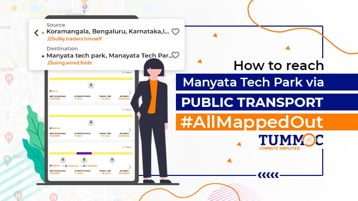 Tummoc, Tummoc app, Manyata Tech park, Public transport