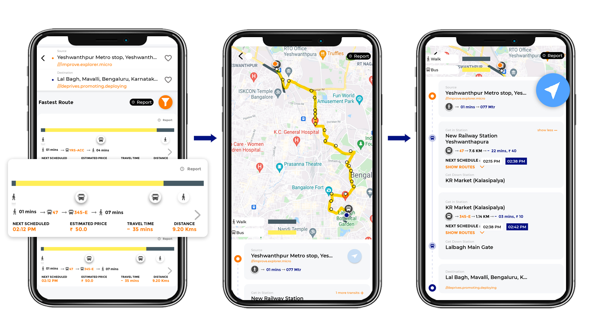 Tummoc, Tummoc app, Public transport,Lal Bagh, Yeshwantpur