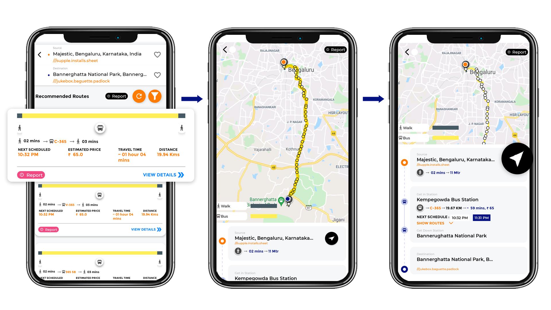 Tummoc, Tummoc app, Bannerghatta National Park, Public transport information, Majestic