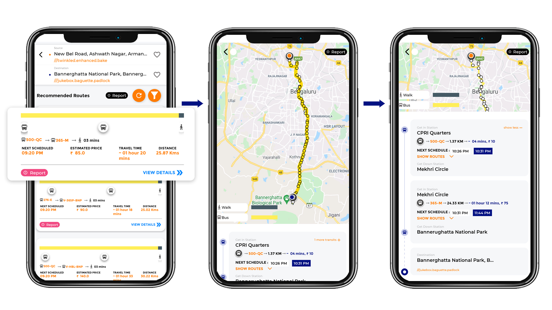 Tummoc, Tummoc app, Bannerghatta National Park, Public transport information, New BEL road
