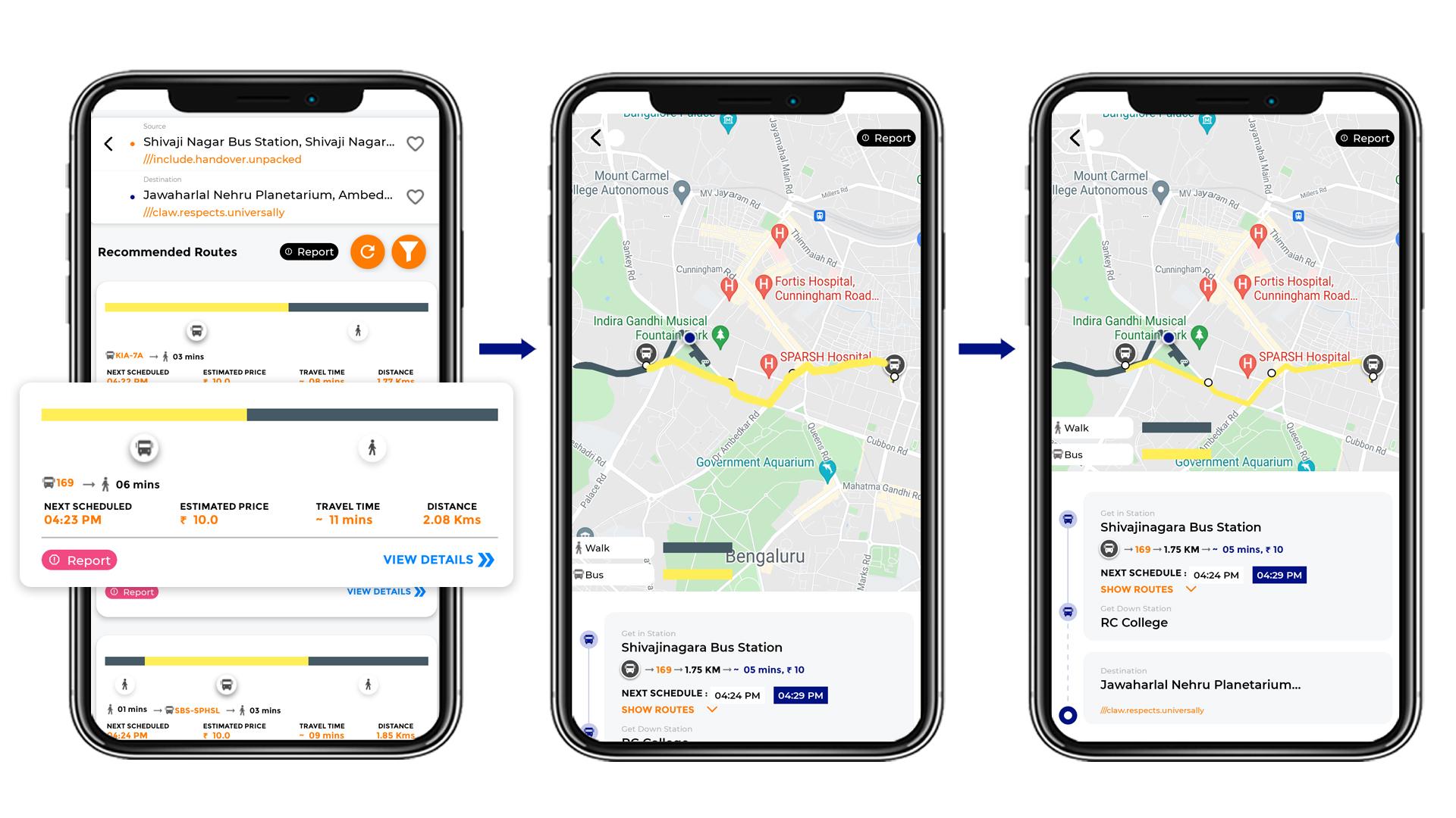 Tummoc, Tummoc app, Public transport information, Jawaharlal Nehru Planetarium, Shivaji Nagar