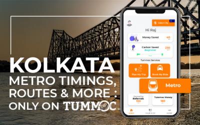 Kolkata Metro Timings, Routes & More: Only on Tummoc!